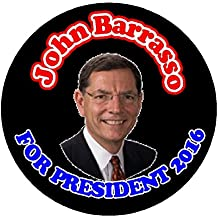 "John Barrasso For President 2016 (Election Vote) 2.25"" Bottle Opener w/ Keyring"