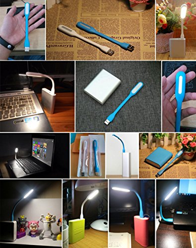 USB LED Light Lamp Adjust Angle Portable Flexible Led Lamp with USB for PowerBank PC Laptop Notebook Computer Keyboard Outdoor Energy Saving Gift Night Book Reading Lamp (9PCS) by IMISS Lighting (Image #4)