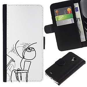 KLONGSHOP // Tirón de la caja Cartera de cuero con ranuras para tarjetas - Tablas volvieron - Samsung Galaxy S4 Mini i9190 //