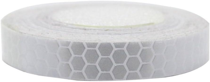 Maiqiken 1 Rolle Reflektor Streifen Weiße Selbstklebende Für Auto Lkw Anhänger Sicherheit Warnung Reflektorband Tape Aufkleber 1cm X 5m Auto