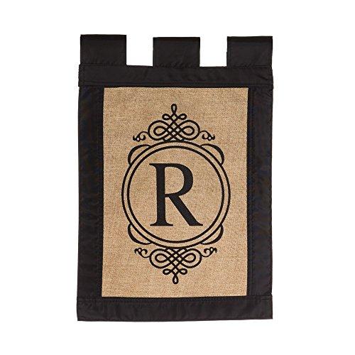 """Gifted Living 14B2704R Sub Monogram """"Letter R"""" Garden Flag,"""