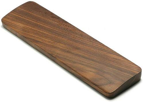 Reposamuñecas de madera para teclado, ergonómico para videojuegos, compatible con teclados estándar de 60 teclas y teclado portátil, soporte mecánico ...
