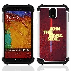 - Join The Dark Side/ H??brido 3in1 Deluxe Impreso duro Soft Alto Impacto caja de la armadura Defender - SHIMIN CAO - For Samsung Galaxy Note3 N9000 N9008V N9009