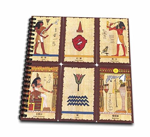 フローレンタロットカード古代エジプト–Tarot Cards–Drawing Book 8x8 drawing book db_62344_1