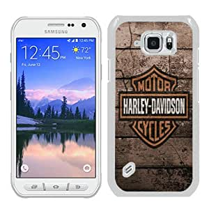 harley davidson logo 3 White Fashion Unique Custom Samsung Galaxy S6 Active Case