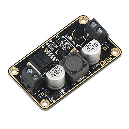 12V 24V to 5V Buck Converter, DROK Immersion Gold Voltage Step Down Regulator Board DC 3V-40V to DC 5 v 3A Volt Reducer DC-DC Power Supply Transformer Module DIY