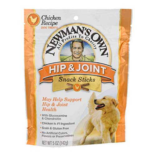 (Newman's Own Functional Snack Sticks for Dogs, Hip & Joint, Chicken Recipe, 5-oz. (Pack of 8))