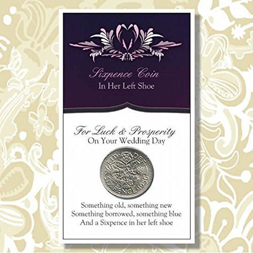 And a Sixpence in Her Left Shoe by Favors Depot -