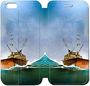 6 4.7 Inch Cover,[Pu Leather Cover] Jaws Theme New iPhone 6 4.7 Inch Case Cover KS9086