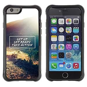 Suave TPU GEL Carcasa Funda Silicona Blando Estuche Caso de protección (para) Apple Iphone 6 PLUS 5.5 / CECELL Phone case / / get up take action motivational quote /