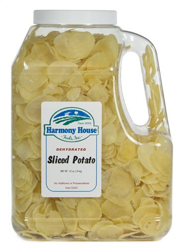 Harmony House Foods, Dried Potatoes, sliced, 32 oz. Gallon Size Jug (Baby Food Dehydrated)