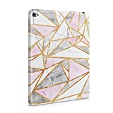 Granite - White & Candy Pink Marble Stone Triangle Pattern Hard Plastic Tablet Case For iPad Mini 4