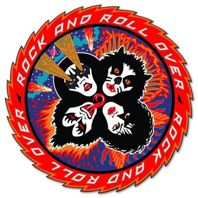 KISS Rock'n'Roll Over Vynil Car Sticker Decal - Select Size (N Rock Kiss Roll)