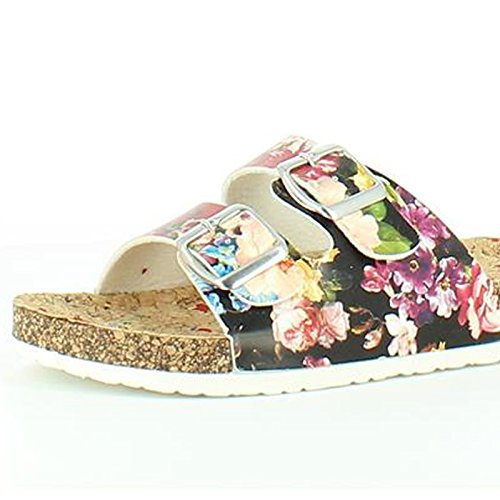floral Black motif noir pour Sandals Sandales Heavenly femme Lilley Feet Feet Heavenly SHnIq7v7