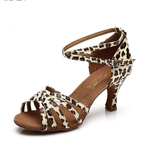 Des Ballroom Med Mädchens Farben Satin Frauen Latin weitere 41 Schuhe Der Obermaterial Salsa D Schuh Professional Sandalen Dance rr1nOHv