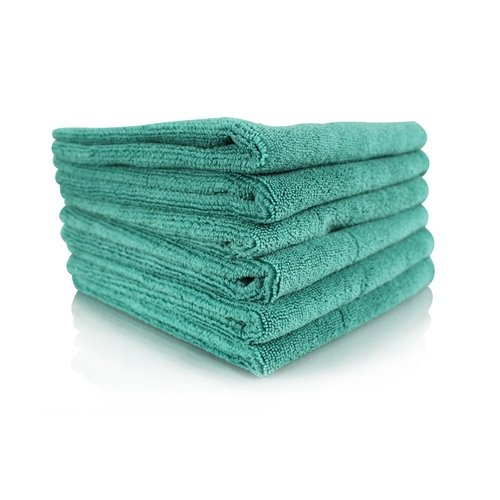 Chemical Guys MICMGREEN06 Workhorse Professional Grade Microfiber Towel, Green (16 in. x 16 in.) (Pack of 6) by Chemical Guys (Image #1)