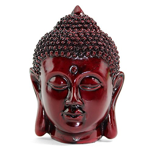 Smiling Meditating Buddha Shakyamuni Head Statue 5'' Tall Blessing Mercy & Love Peaceful - We Pay Your Sales Tax by We pay your sales tax
