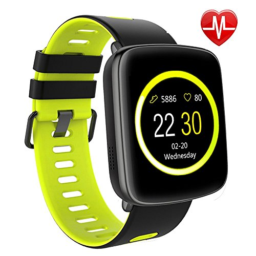 Smart Watch for iPhone & Android Phones,Willful SW018 Smartwatch Fitness Tracker Heart Rate Monitor Watch,Sleep Monitor Pedometer Watch for Men Women Green (IP68 Waterproof,3M Diving) by Willful