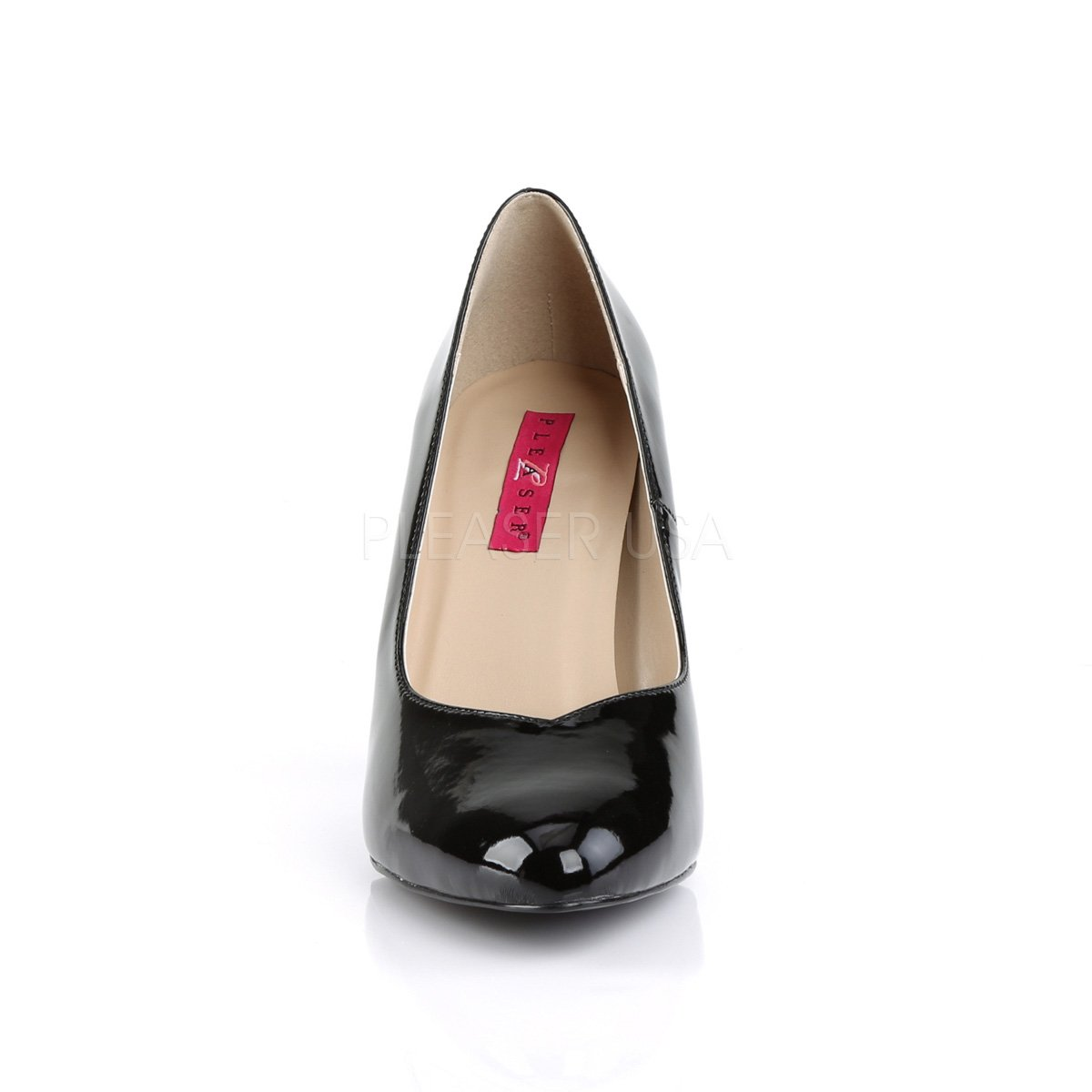 Pink Label Lack OverGröße Pumps Dream-420 Lack Label schwarz Big Größe Übergrößen Lack Schwarz ba2778