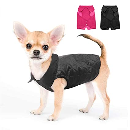 7399e36a18c6 Dog Cold Weather Dog Jacket - Warm Reversible Dog Winter Coat - Dogs  Windproof Clothes for