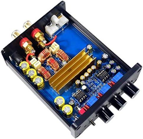 H HILABEE 2 Channel Mini HIFI Digital Power Amplifier for Home Audio Speaker Stereo Class-D 100 Watt * 2 Black