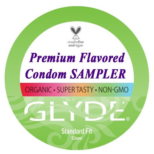 GLYDE Premium Organic Flavored Condom Sampler (Medium Fit) | 10 Count Pack, Australia's #1 Certified Vegan & Natural Condoms (Flavored Latex Premium Condoms)