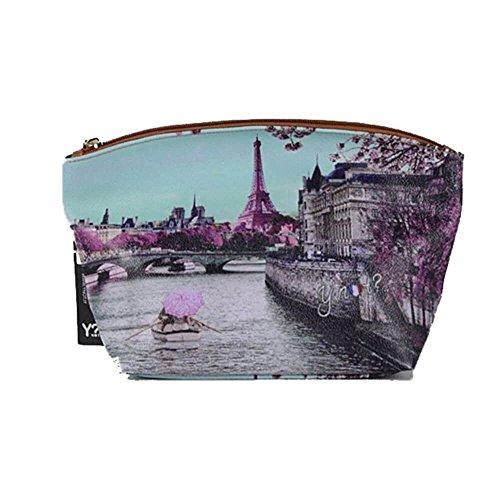 YNOT - Bolso al hombro para mujer Multicolore (Paris Seine)