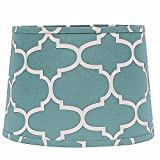 Home Collection by Raghu 4D930082 Sea Foam & White Moroccan Washer Drum Lampshade, 14''