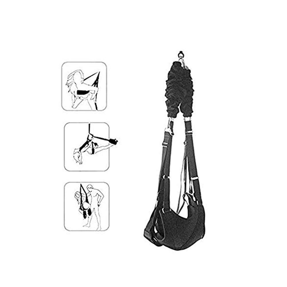 SYSYAWEARD Indoor Swivel Ceiling Hanging Swing Set - 360 Spinning Swivel Swing for Adult Couples Women - Includes Frame, Spring and Hooks-Holds up to 800 lbs Y313