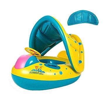 Flotador para bebés 6meses-3 Años Barco Inflable Flotador ...