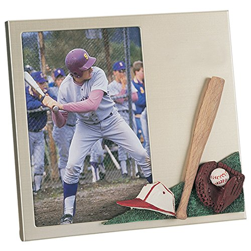 X2 Depot Baseball Theme Metal Picture Frame with Gold/Pearl Finish