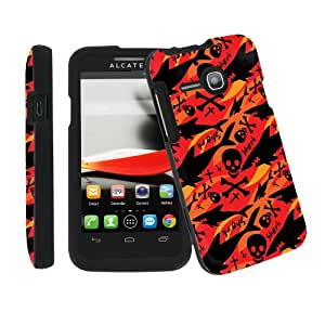 [ArmorXtreme] Alcatel One Touch Evolve / 5020T Total Protection Black Phone Cover Hard Case (Shark Skull)