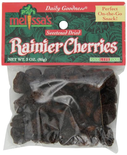 Melissa's Dried Bing Cherries 3-Ounce Bags (Pack of 12), Perfect for Snacks or in Cooking and Baking, Rich Flavor and Sweetness, Gluten Free and Low Calorie Snack ()