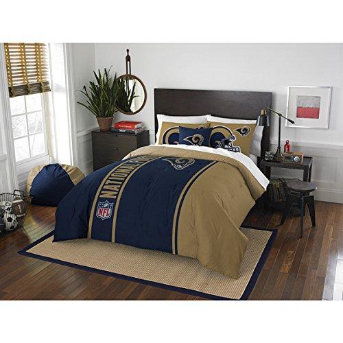 Los Angeles Rams Comforter Set Bedding Shams NFL 3 Piece Full Size 1 Comforter 2 Shams Football Linen Applique Bedroom Decor Imported Sold byMBG.4u. by NWC (Image #1)