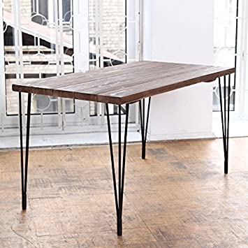 industrial dining furniture. Simple Dining CosyWood Hairpin Legs Industrial Dining Table  Matt Black BrownGreen With Furniture