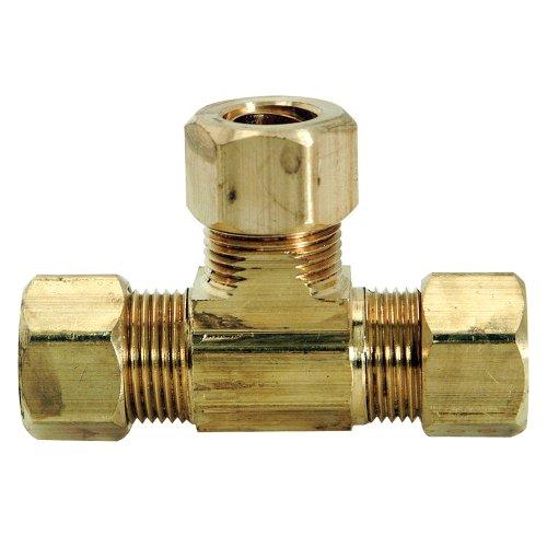 (Brasscraft 64-6X 3/8 OD  by 3/8 OD  by 3/8 OD  Tee Lead-Free, Rough Brass)
