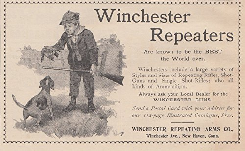 1895 Winchester Repeater Guns: Best the World Over, Winchester Repeating Arms Print Ad