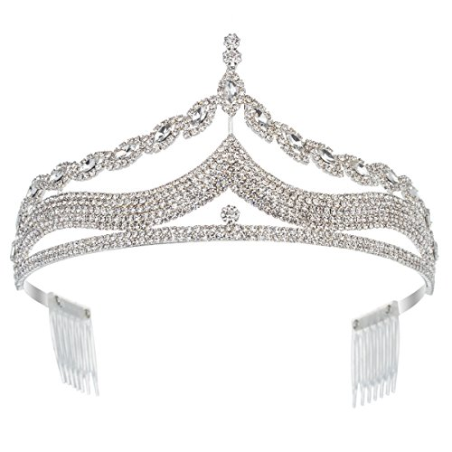 Lucky Star Rhinestone Princess Tiaras Queen Crowns - Lucky Star Costumes