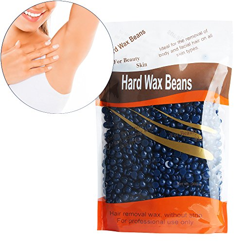 Hard Wax Beans Hisight Profession Depilatory Solid Granules Hard Wax Beads- Hair Removal for Man and Woman 10 oz/ 300g (Chamomile taste)