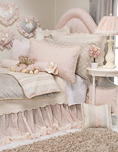 Glenna Jean Contessa Crinkle Skirt with Roses, Full, - Glenna Bedding Full Jean