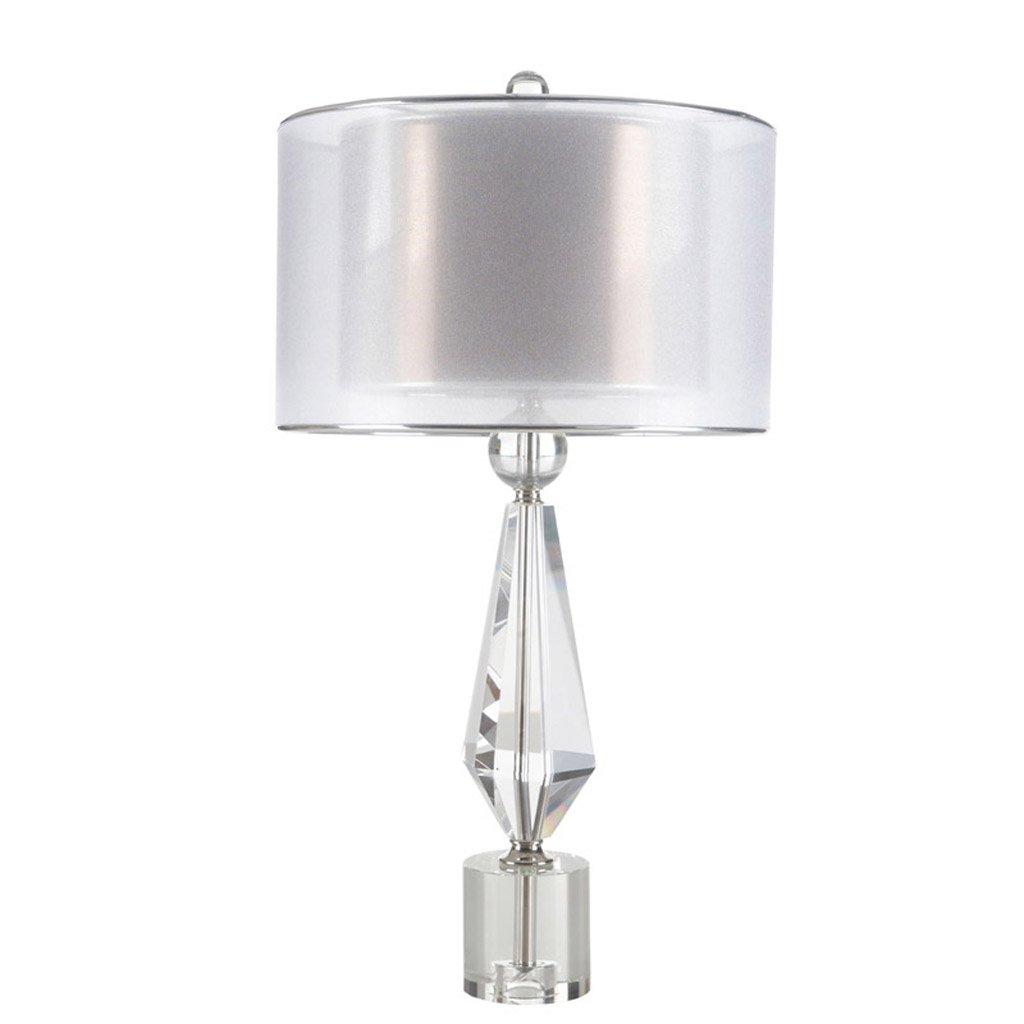 American Creative Crystal Tischlampe Bedside Schlafzimmer Kunst Wohnzimmer Kristall Lampe Tuch Lampenschirm