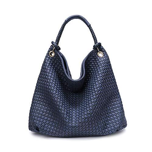 Woven Leather Handbags - 8