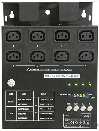 1 opinioni per Centralina Luci Dimmer Pack DP4 4 Canali DMX 10A- 16 effetti di luce