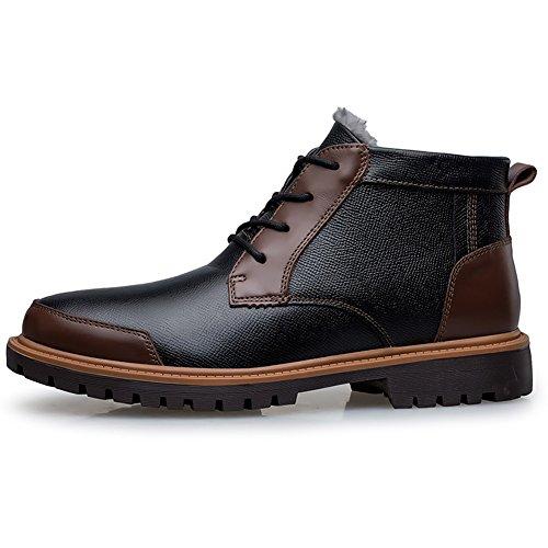 amp;marrone Comfort Da Uomo Pelliccia Nero Di Resistente Caviglia Stivali Combattimento Shenn Indossare Foderato dXzq7zxw