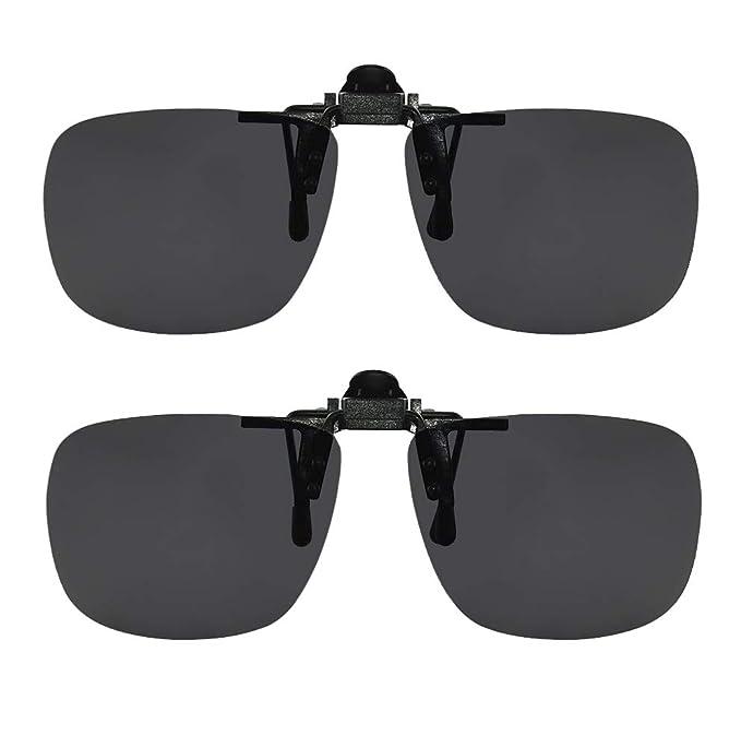 Amazon.com: Gafas de sol polarizadas con clip en las gafas ...