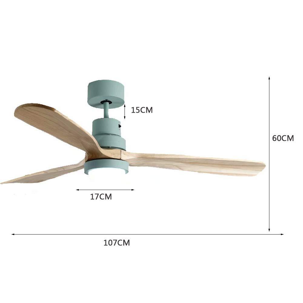 para comedor//dormitorio//sala de estar 42 pulgadas Ventilador de techo ventilador moderno con luz 107 * 60 cm control remoto luz de tres tonos
