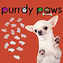 40-pack Clear Soft Nail Caps for Dogs Claws Purrdy Paws (Jumbo)