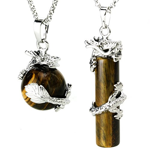 Tiger Eye Gemstone Necklace - 4