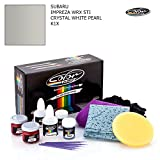 SUBARU IMPREZA WRX STI / CRYSTAL WHITE PEARL - K1X / COLOR N DRIVE TOUCH UP PAINT SYSTEM FOR PAINT CHIPS AND SCRATCHES / PRO PACK