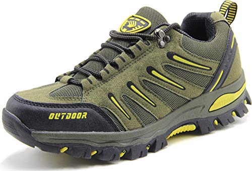 best service e3055 a98e8 BomKinta Men s Hiking Shoes Anti-Slip Lightweight Breathable Quick-Dry  Trekking Shoes for Men Army Green Size 12